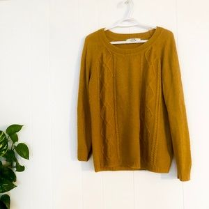 Mustard Yellow Knit Ski Sweater Forever 21